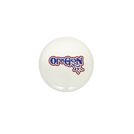 Oregon Stars and Stripes Mini Button