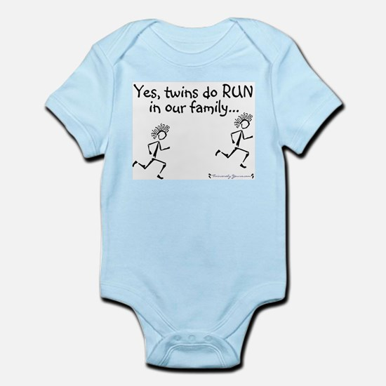 Yes, Twins do RUN in the Fami Infant Creeper