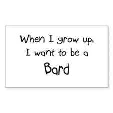 When I grow up I want to be a Bard Decal