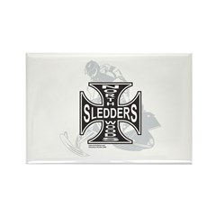 North Woods Ssledders - Snowm Rectangle Magnet