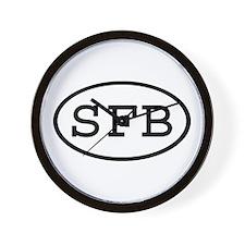 SFB Oval Wall Clock