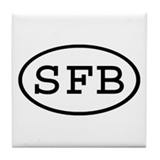 SFB Oval Tile Coaster