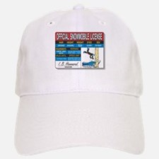 Snowmobile License tee Baseball Baseball Cap