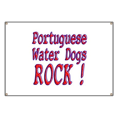 Portuguese Water Dogs Banner