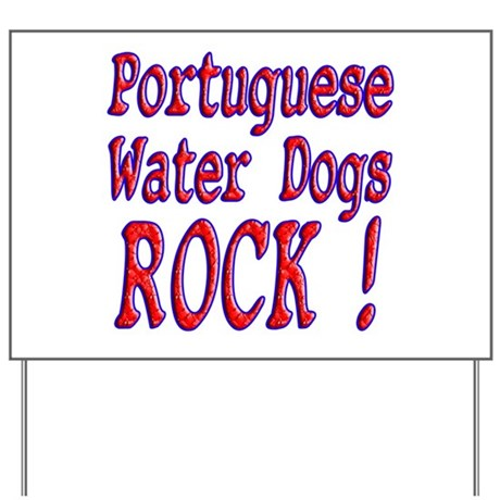 Portuguese Water Dogs Yard Sign