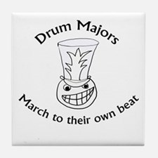 Drum Majors March To Their Own Beat Tile Coaster