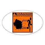 SCIENCE IN PROGRESS Oval Sticker (10 pk)