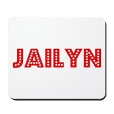 Retro Jailyn (Red) Mousepad