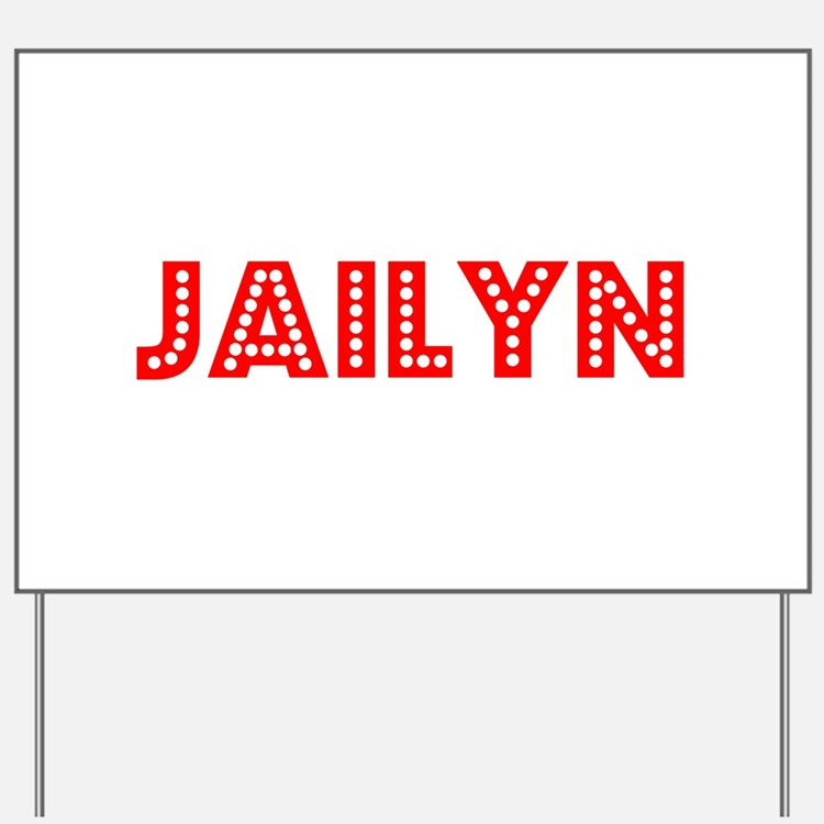 Retro Jailyn (Red) Yard Sign