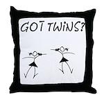 Got Twins? Girls Dancing Throw Pillow