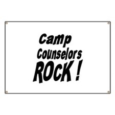 Camp Counselors Rock ! Banner