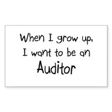 When I grow up I want to be an Auditor Sticker (Re