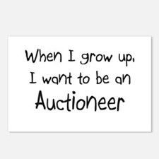 When I grow up I want to be an Auctioneer Postcard