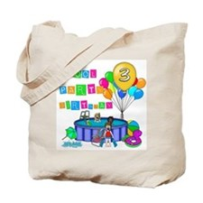 Pool Party 3rd Birthday Tote Bag