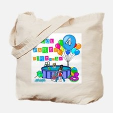Pool Party 4th Birthday Tote Bag