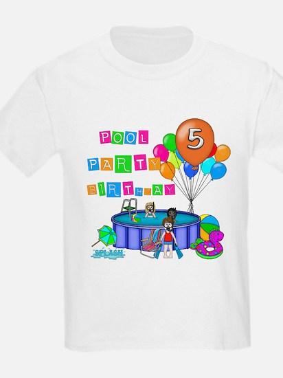 Pool Party 5th Birthday T-Shirt