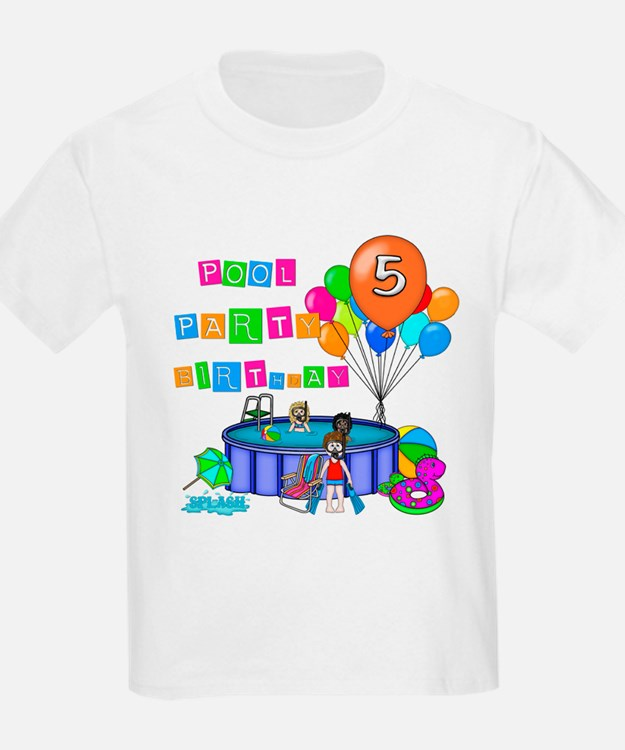 Pool Gift Ideas gift ideas for women Pool Party 5th Birthday T Shirt