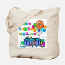 Pool Party 5th Birthday Tote Bag