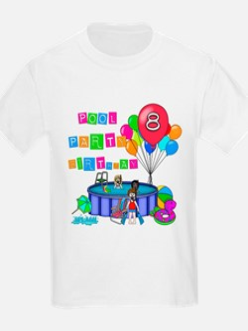 Pool Party 8th Birthday T-Shirt
