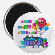 Pool Party 8th Birthday Magnet