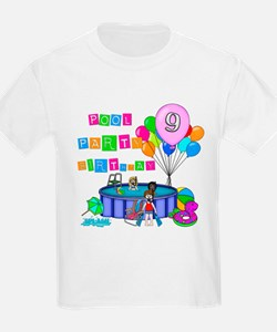 Pool Party 9th Birthday T-Shirt