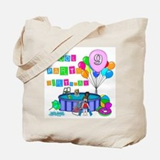 Pool Party 9th Birthday Tote Bag
