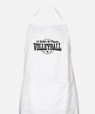 I'd Rather Be Playing Volleyball BBQ Apron