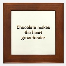 CW Chocolate Makes Framed Tile