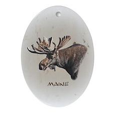 Big Moose Ornament (Oval)