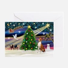 XmasMagic - Basenji Greeting Card