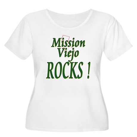 Mission Viejo Rocks ! Women's Plus Size Scoop Neck