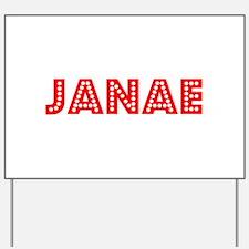 Retro Janae (Red) Yard Sign