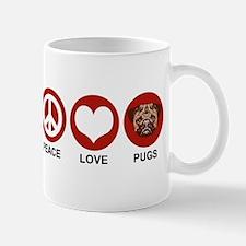 Peace Love Pugs Mug