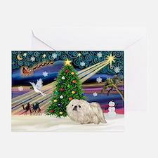 XmasMagic/Pekingese (4w) Greeting Card