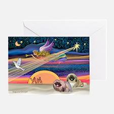 XmasStar/2 Pekingese Greeting Card