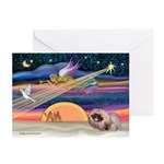 XmasStar/Pekingese (R) Greeting Cards (Pk of 10)