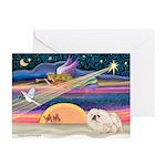 XmasStar/Pekingese (4W) Greeting Cards (Pk of 10)
