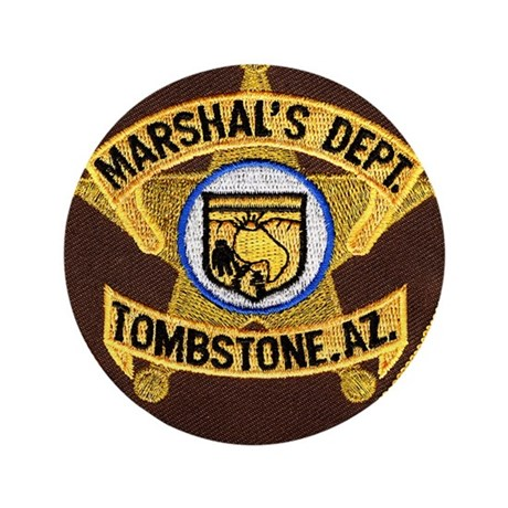 """Tombstone Marshal 3.5"""" Button (100 pack)"""