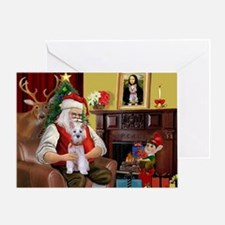 Santa's Schnauzer (9) Greeting Card