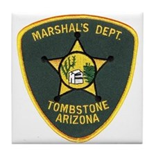 Marshal Tombstone Tile Coaster