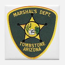 Marshal Tombstone Tile Coaster