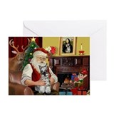 Schnauzer christmas Greeting Cards (20 Pack)