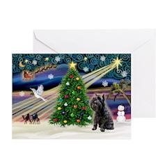 XmasMagic/Schnauzer 12 Greeting Cards (Pk of 10)