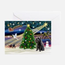 XmasMagic/Schnauzer 12 Greeting Cards (Pk of 20)