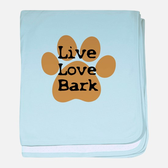live love bark baby blanket