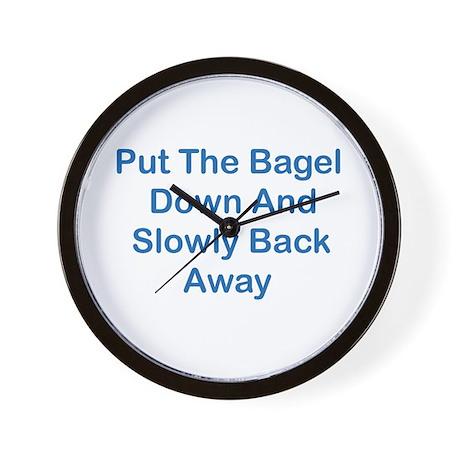 Put The Bagel Down Wall Clock