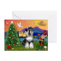 Christmas Schnauzer Greeting Cards (Pk of 20)