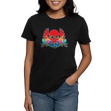 Hibiscus Skull Tee