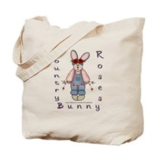 Country Roses Bunny Tote Bag