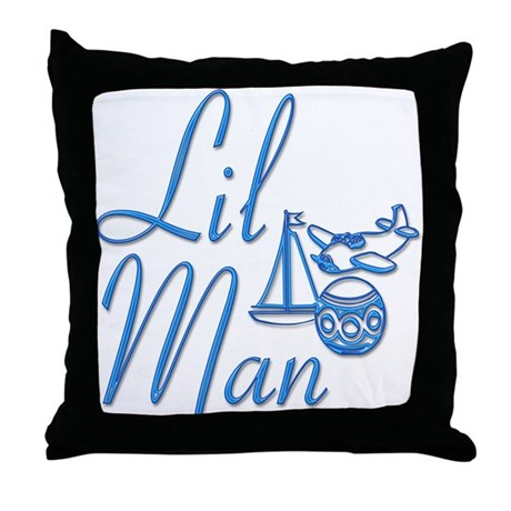 Lil Man Throw Pillow